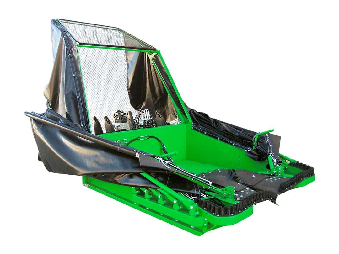 Cajón para Recolector de aceituna con paraguas y cajón delanteros