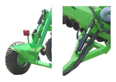 Control profundidad a ruedas traseras y cilindro lanza enganche