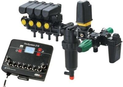 Mando eléctrico de 5 o 7 tramos de pulverización y retornos calibrados